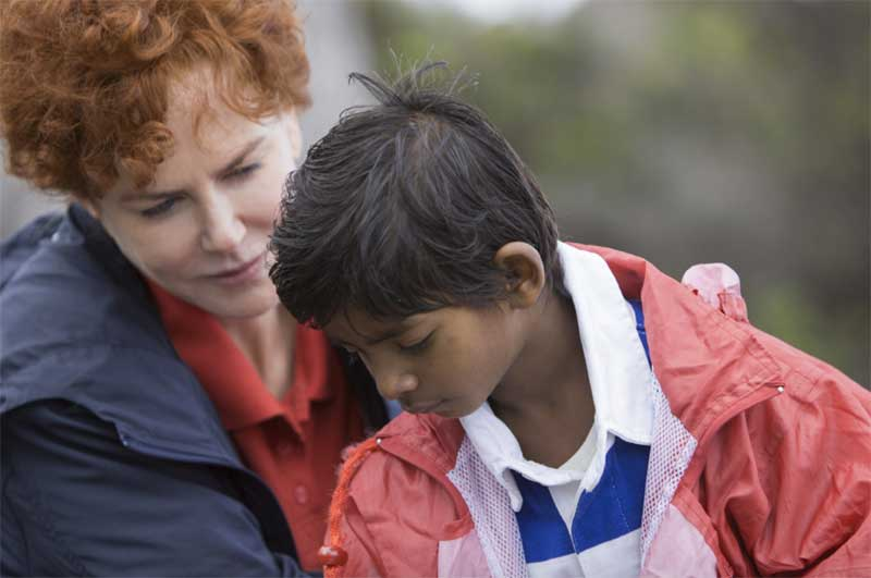 Nicole Kidman and Sunny Pawar in Lion