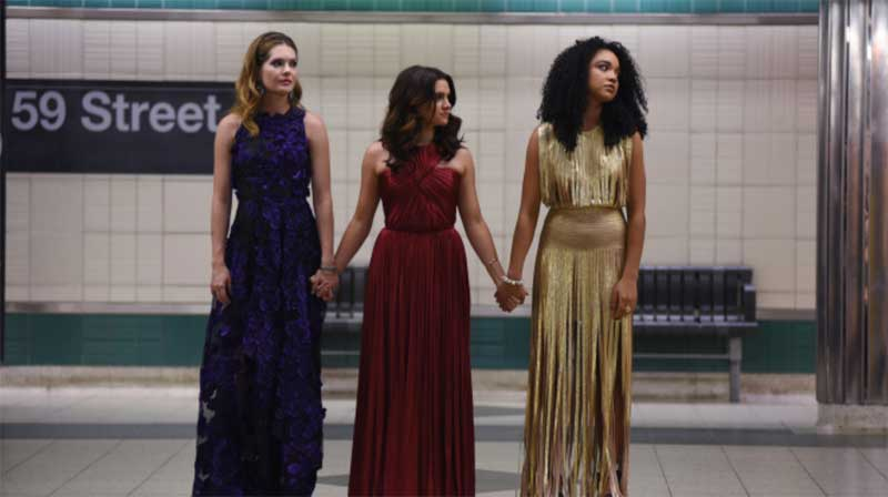 Aisha Dee, Meghann Fahy, and Katie Stevens in The Bold Type