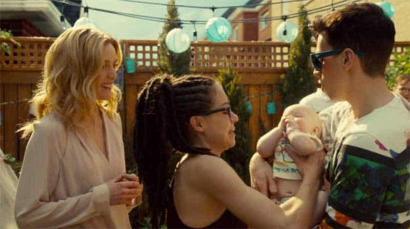 Evelyne Brochu, Tatiana Maslany as Cosima and Jordan Gavaris in Orphan Black