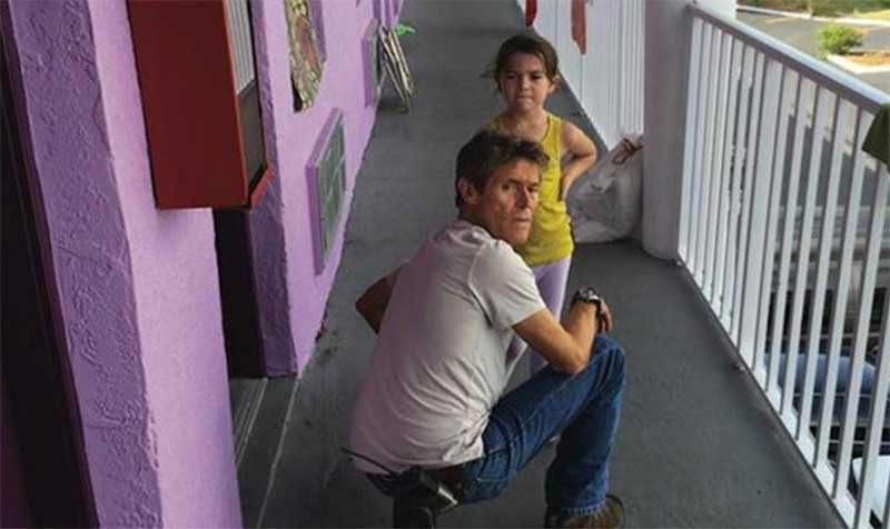 Willem Dafoe and Brooklynn Prince in The Florida Project