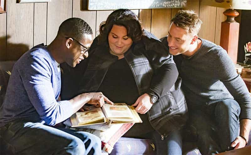 Sterling K. Brown, Chrissy Metz and Justin Hartley in This is Us