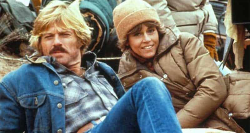 Robert Redford and Jane Fonda in The Electric Horseman