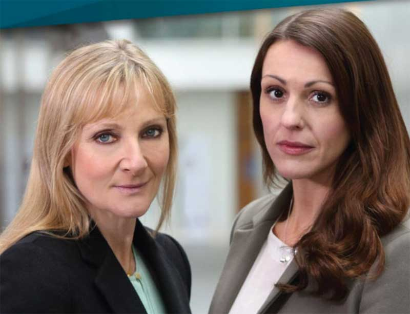 Lesley Sharp and Suranne Jones in Scott & Bailey