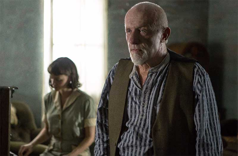 Carey Mulligan and Jonathan Banks in Mudbound
