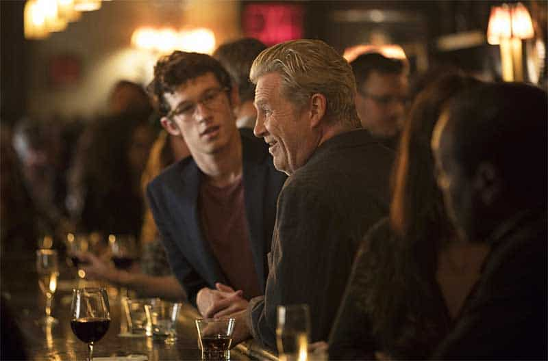 Callum Turner and Jeff Bridges in The Only Living Boy in New York