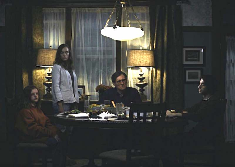 Gabriel Byrne, Toni Collette, Alex Wolff, and Milly Shapiro in Hereditary