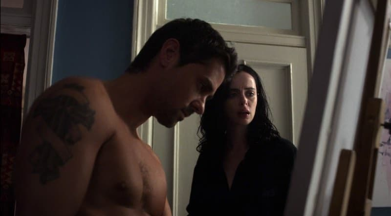J.R. Ramirez and Krysten Ritter in Jessica Jones