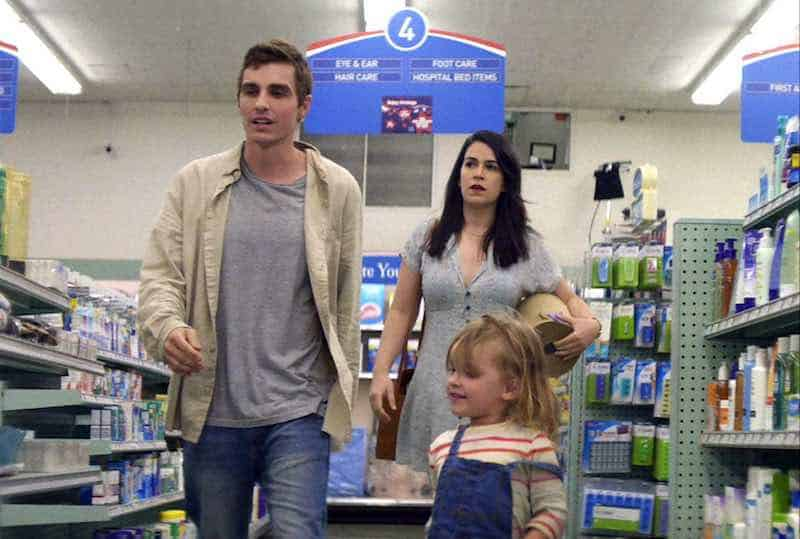 Dave Franco, Abbi Jacobson, and Charlotte Carel in 6 Balloons