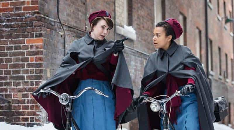 Leonie Elliott and Jennifer Kirby in Call the Midwife