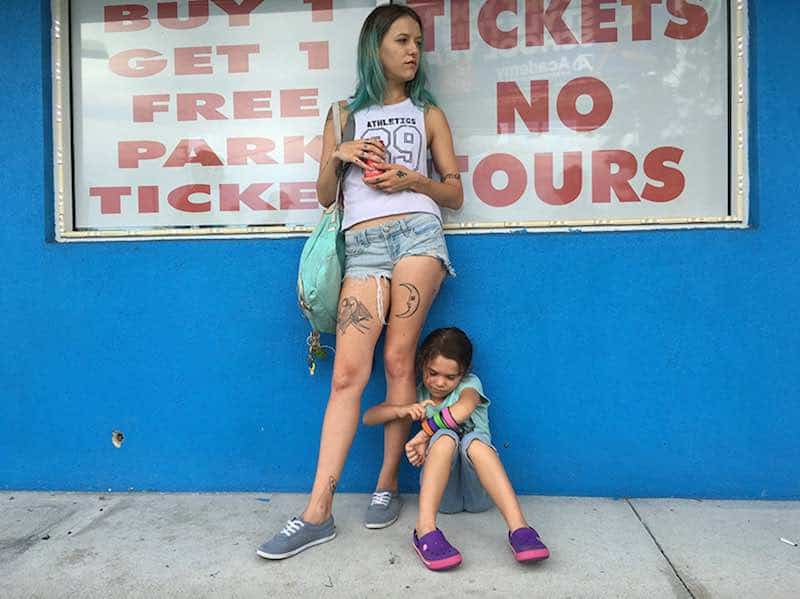 Bria Vinaite and Brooklynn Prince in The Florida Project
