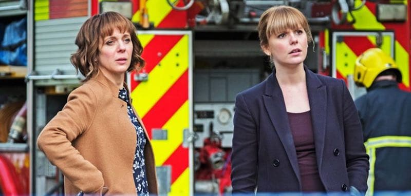 Amanda Abbington and Hannah Arterton in Safe