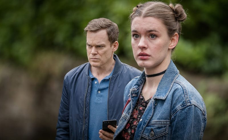 MIchael C. Hall and Amy James-Kelly in Safe