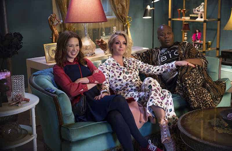 Jane Krakowski, Tituss Burgess, and Ellie Kemper in Unbreakable Kimmy Schmidt