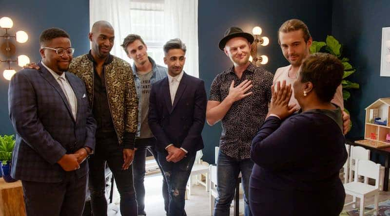 The Queer Eye men with folks from Gay, Georgia