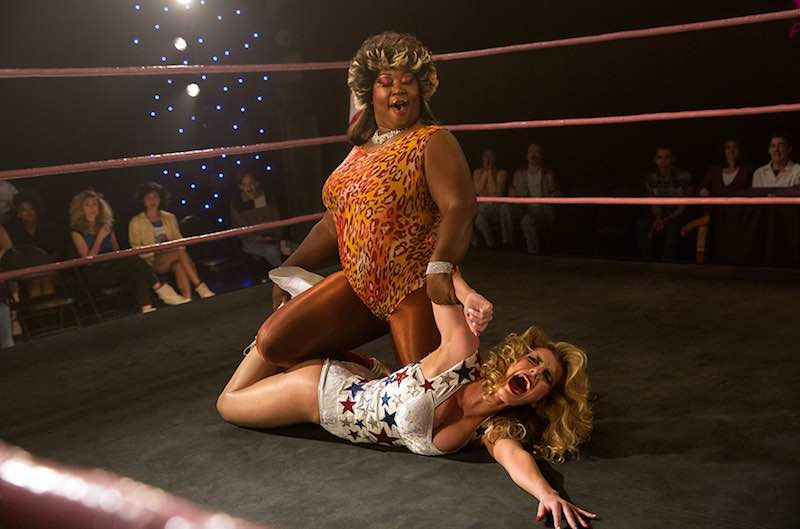Kia Stevens and Betty Gilpin in GLOW