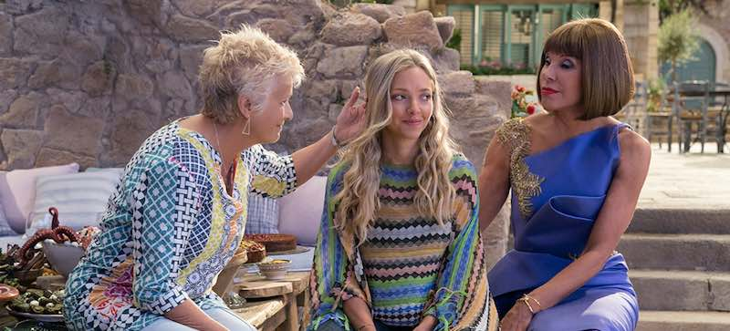 Christine Baranski, Julie Walters, and Amanda Seyfried in Mamma Mia! Here We Go Again