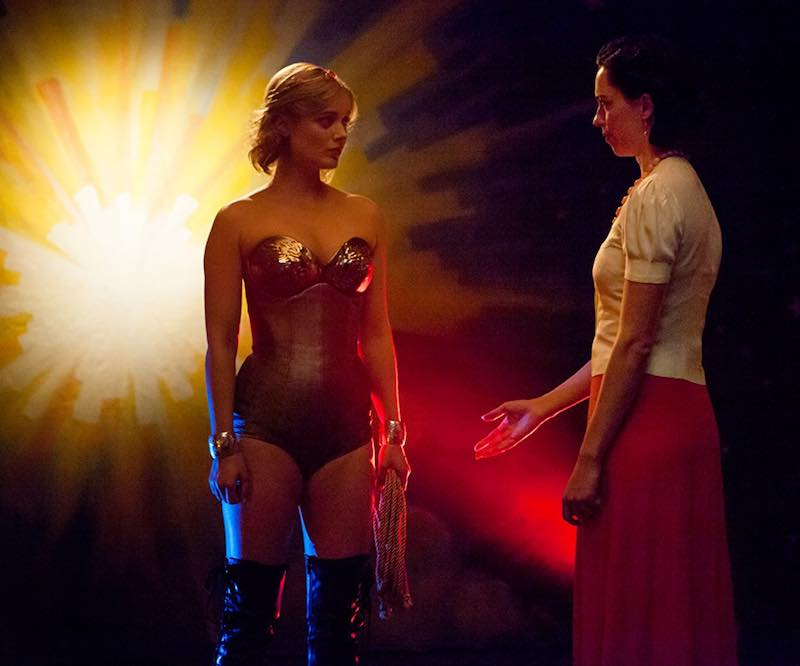Bella Heathcote and Rebecca Hall in Professor Marston and the Wonder Woman