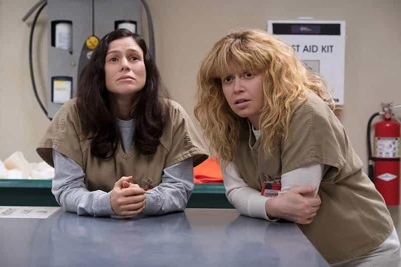 Yael Stone and Natasha Lyonne in Orange is the New Black