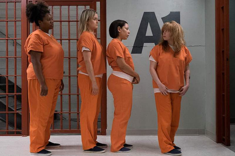Adrienne C. Moore, Taylor Schilling, Selenis Leyva and Natasha Lyonne in Orange is the New Black