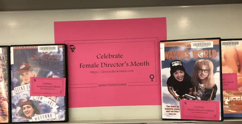 Thrilled by my local library in #DirectedbyWomen month