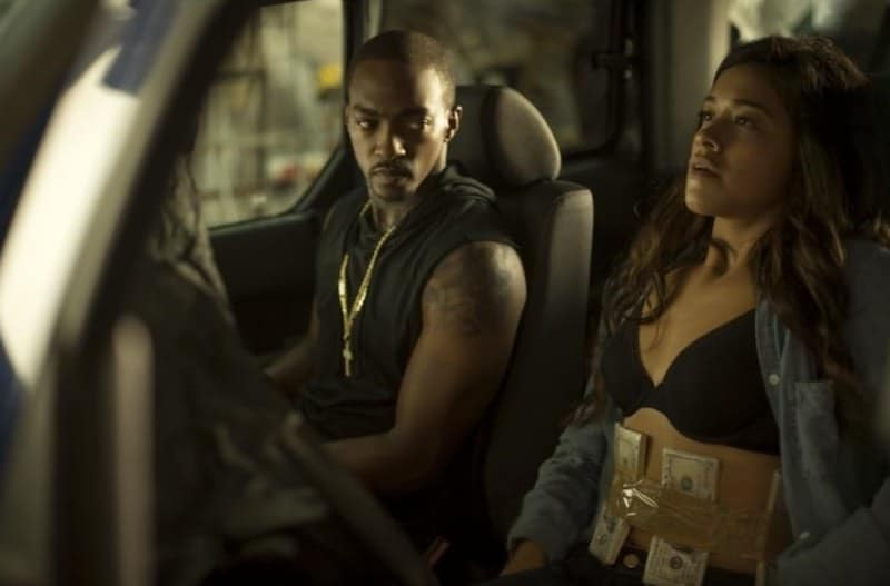 Anthony Mackie and Gina Rodriguez in Miss Bala