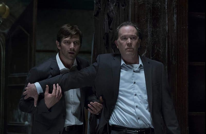 Michiel Huisman and Timothy Hutton in The Haunting of Hill House