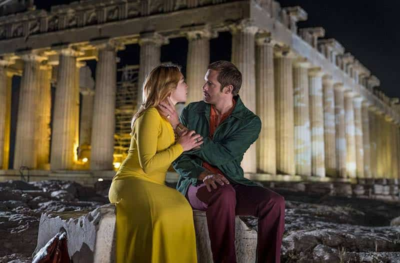 Alexander Skarsgård and Florence Pugh in The Little Drummer Girl