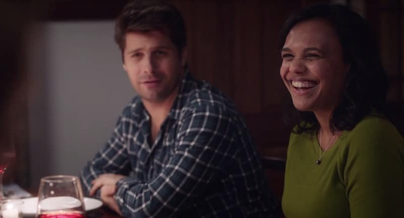 Ryan Johnson and Miranda Tapsell in The Heart Guy (Doctor, Doctor)