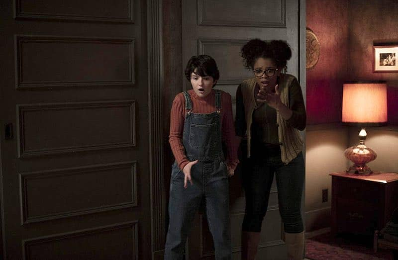 Jaz Sinclair and Lachlan Watson in Chilling Adventures of Sabrina