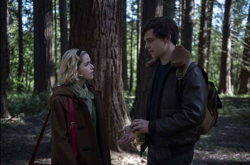 Kiernan Shipka and Ross Lynch in Chilling Adventures of Sabrina