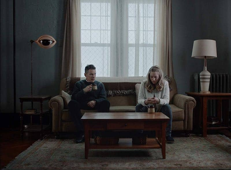 Ethan Hawke and Amanda Seyfried in First Reformed