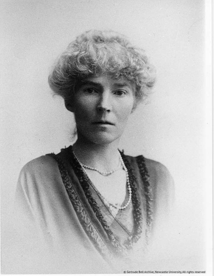 """Gertrude Bell. Image from """"Letters from Baghdad"""""""