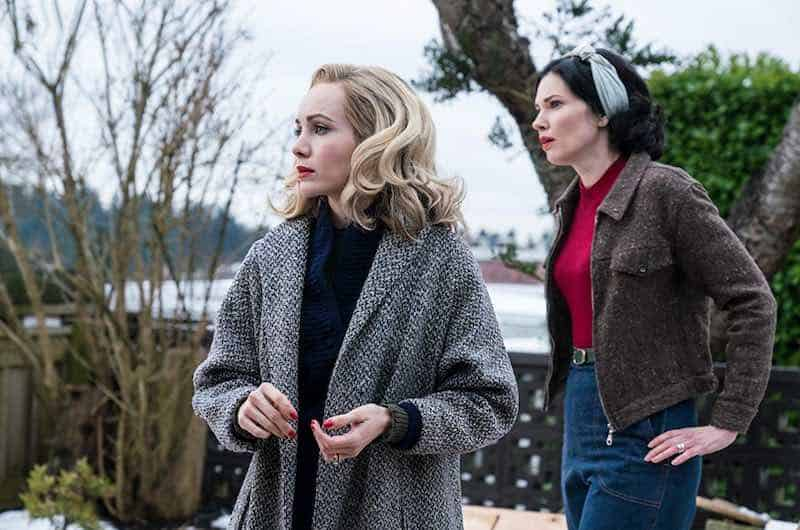 Laura Mennell and Ksenia Solo in Project Blue Book