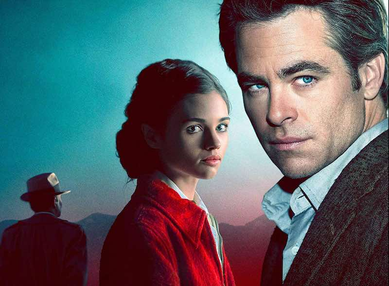 Chris Pine and India Eisley in I Am the Night