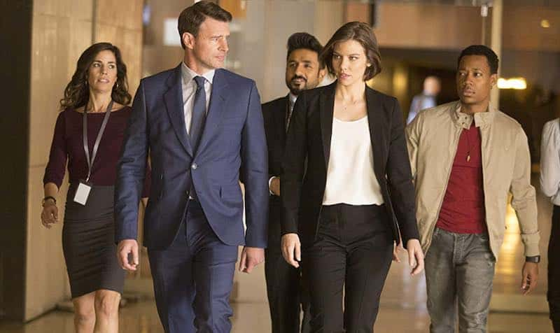 Scott Foley, Ana Ortiz, Vir Das, Lauren Cohan, and Tyler James Williams in Whiskey Cavalier