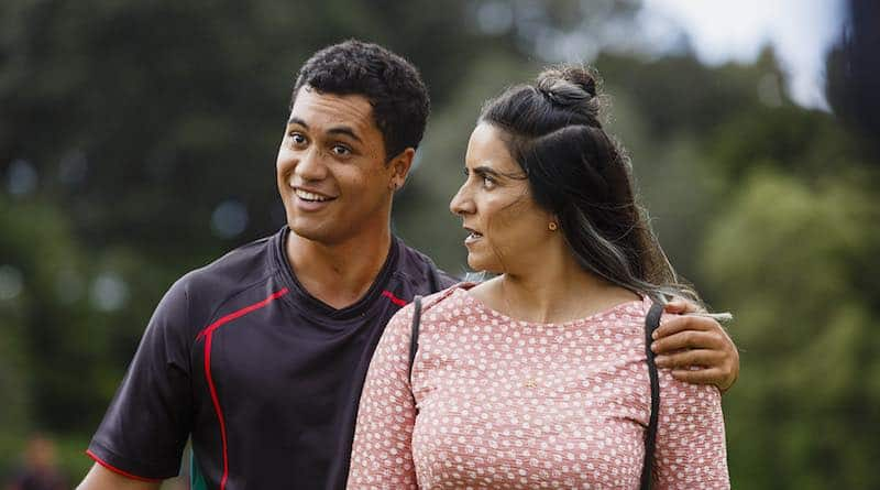 James Rolleston and Madeleine Sami in The Breaker Upperers