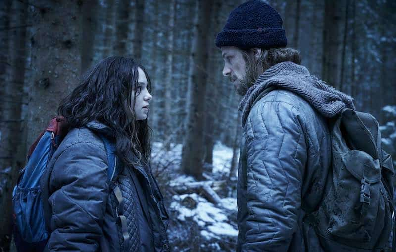 Esme Creed-Miles and Joel Kinnaman in Hanna