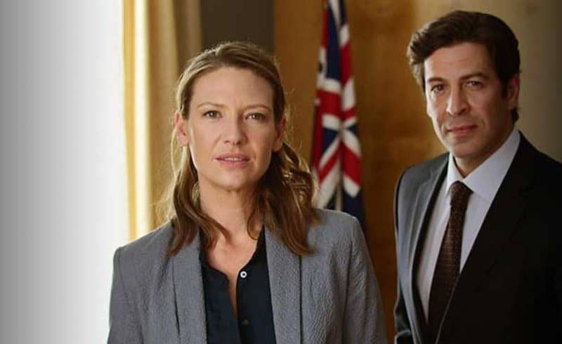 Don Hany and Anna Torv in Secret City