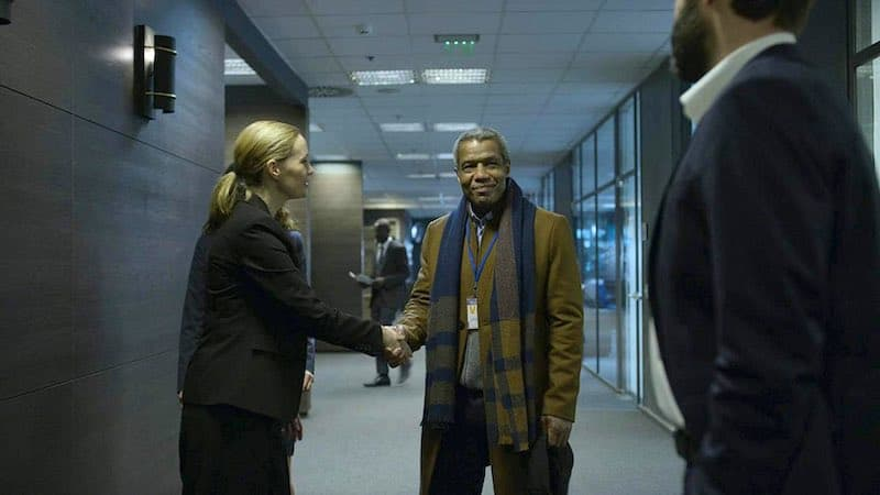 Natasha Little, Hugh Quarshie, and Matthew Le Nevez in Absentia