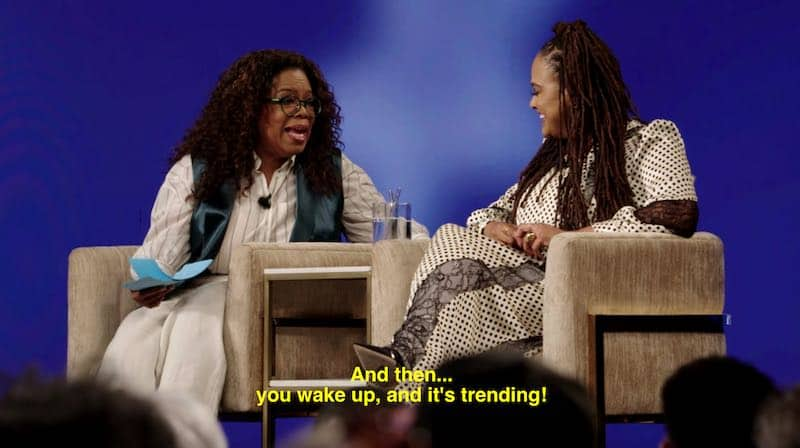 Oprah Windrey and Ava DuVernay
