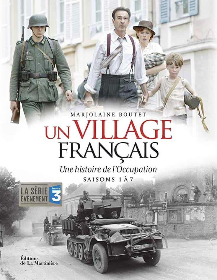the poster for A French Village (Un village français)