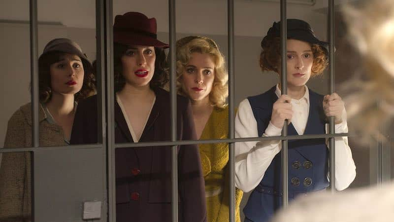 Nadia de Santiago, Blanca Suárez, Maggie Civantos and Ana Polvorosa in Cable Girls