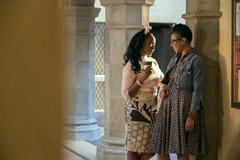 Nia Jervier and Courtney Sauls in Dear White People