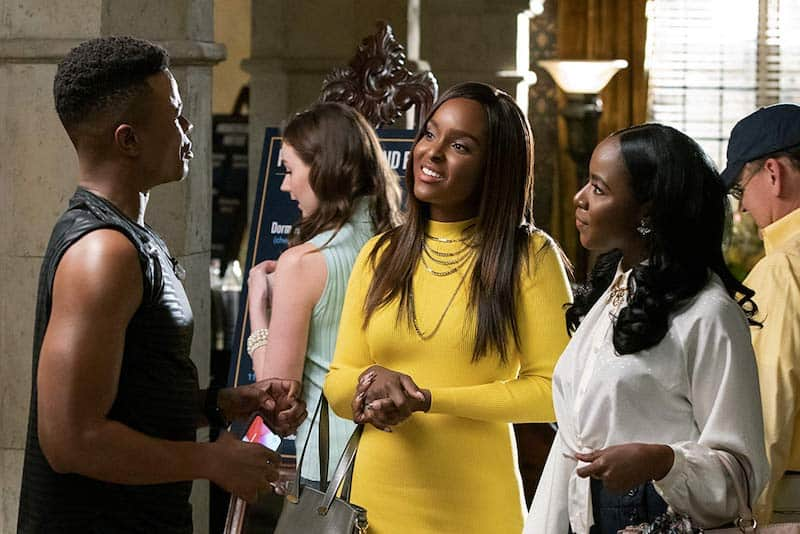 Marque Richardson, Nia Jervier, and Antoinette Robertson in Dear White People