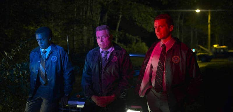 Holt McCallany, Albert Jones, and Jonathan Groff in Mindhunter