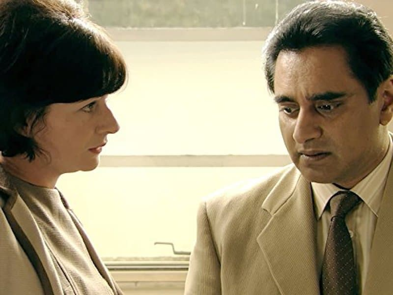 Mali Harries and Sanjeev Bhaskar in The Indian Doctor