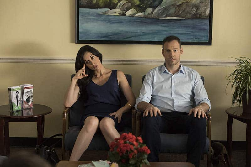 Catherine Reitman and Philip Sternberg in Workin' Moms