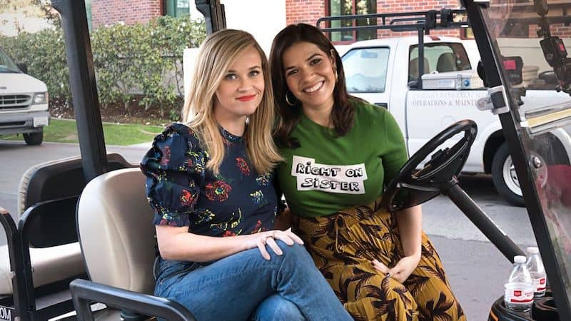 Reese Witherspoon and America Ferrera in Shine on with Reese