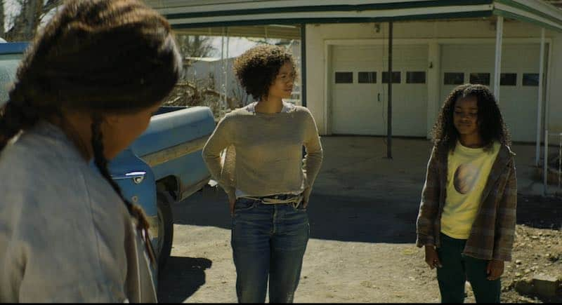Lorraine Toussaint, Gugu Mbatha-Raw, and Saniyya Sidney in Fast Color