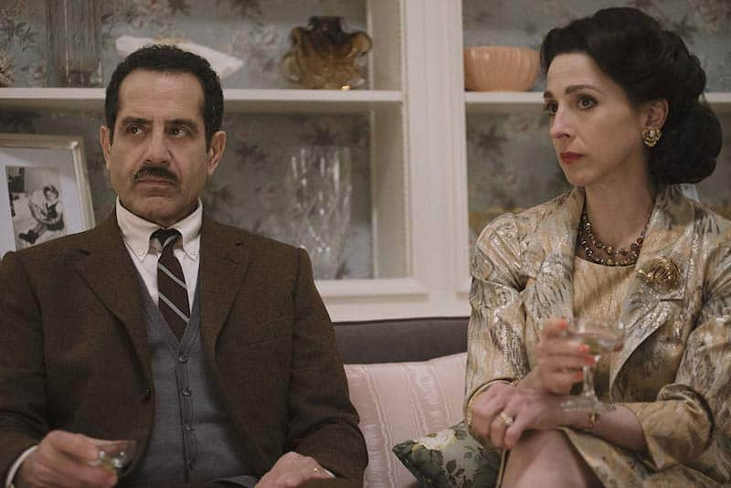 Tony Shalhoub and Marin Hinkle in The Marvelous Mrs. Maisel